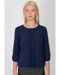 Тёмно-синяя блузка цвета Emka Fashion b 2101/kosmos