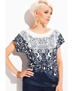 Тёмно-синяя блузка Zaps Salma