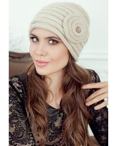 Женская шапочка Landre Франческа бежевого цвета