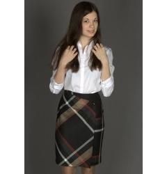 Модная юбка до колена