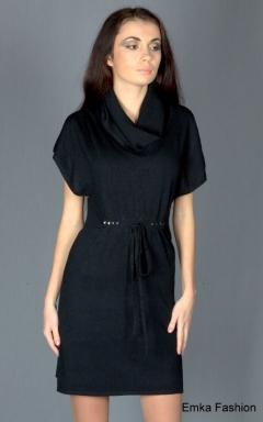Элегантное платье с пояском Yiky Fashion