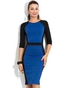 Черно-синее платье Donna Saggia DSP-106-37t