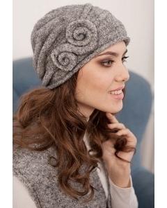 Комплект (шапка+шарф) серого цвета Landre Тамара