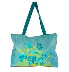 Недорогая бирюзовая сумка с цветами | ДС-1281