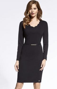 Чёрное трикотажное платье Ennywear 200076