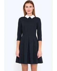 Стильное платье с белым воротничком Emka Fashion PL-413/shelbi