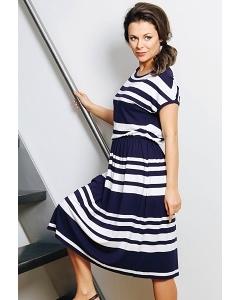 Летнее платье в полоску TopDesign A7 055