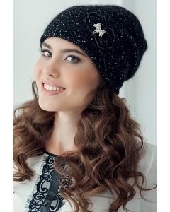 Женская шапка чёрного цвета Landre Верона