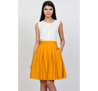 Горчичная юбка-колокол Emka Fashion 322-regina