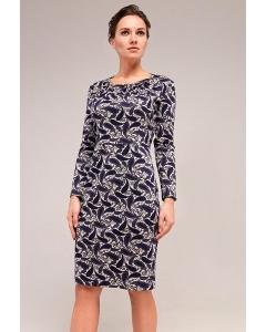Трикотажное миди-платье TopDesign B7 153
