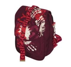 Бордовая молодёжная сумка Grizzly | СМ-1020