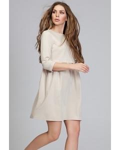 Женское платье из двух тканей Donna Saggia DSP-283-45t