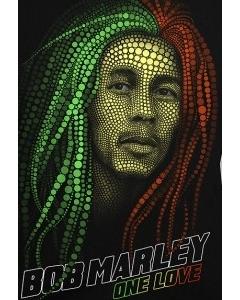 Мужская футболка Bob Marley (светится  темноте)
