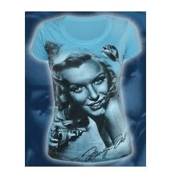 "Голубая женская футболка ""Marilyn Monro"""