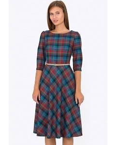 Клетчатое платье Emka Fashion PL-407/amara