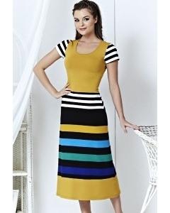Длинное платье в полоску | A3 084