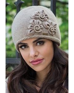 Тёмно-бежевая шапка Kamea Nora