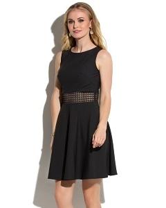 Чёрное платье с кружевной ставкой Donna Saggia DSP-274-6