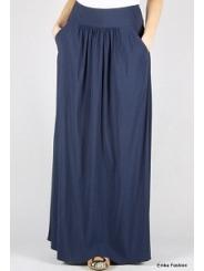 Длинная летняя юбка синего цвета Emka Fashion 309-lillian