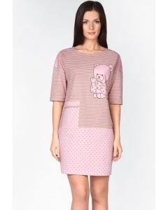 Домашнее платье розового цвета | 1285-50