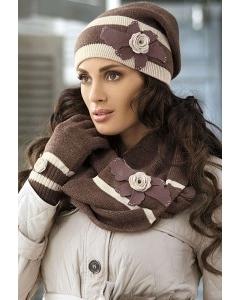 Женская шапка в полоску Kamea Rosalia