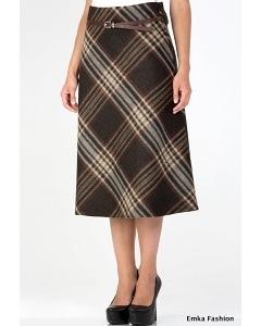 Мягкая шерстяная юбка Emka Fashion 412-karida