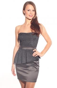 Платье-бюстье с баской   DSP-43-5