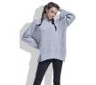 Молодёжный свитер серого цвета oversize купить в интернет-магазине Fobya F423