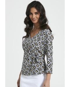 Женская блузка с завязкой на талии Ennywear 250054