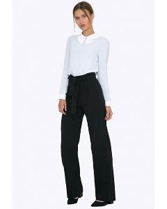 Женские широкие брюки с поясом Emka D075/eclipse