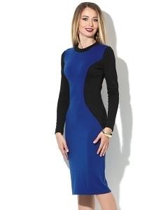 Чёрно-синее платье Donna Saggia DSP-194-37t