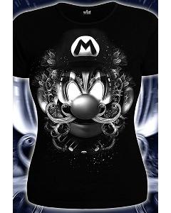 Женская футболка 3D Марио (Светится в ультрафиолете)