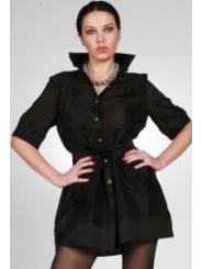 Черная удлиненная блузка