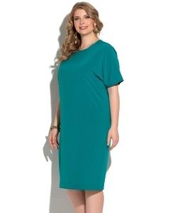Летнее лёгкое платье нефритового цвета Donna Saggia DSPB-04-35