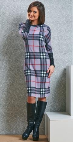 Клетчатое платье TopDesign B4 054