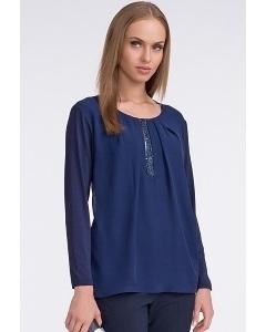 Красивая блузка синего цвета Sunwear U45