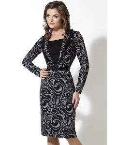 Черно-серое платье TopDesign | B2 059