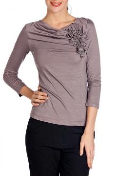 Женский джемпер светло-серого цвета | Д332-1137