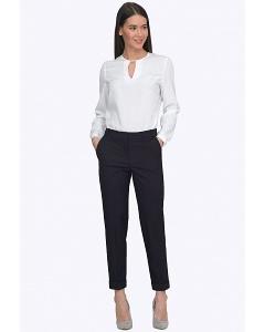 Классические офисные брюки тёмно-синего цвета Emka D040/malika