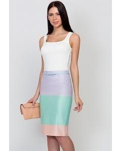 Трёхцветная юбка Emka Fashion 202-60/leya