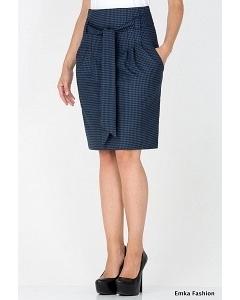Юбка с принтом гусиная лапка Emka Fashion 421-sambuka