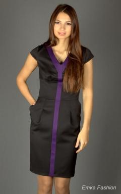 Стильное черное платье Emka Fashion