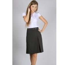 Чёрная прямая юбка