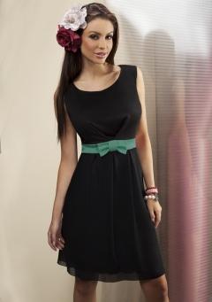 Черное платье Enny без рукавов | 15031