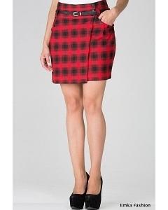 Короткая юбка в клетку Emka Fashion 341-eva