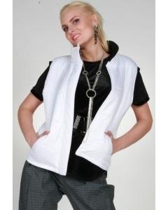 Белая женская жилетка от Chertina&Durre