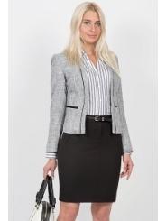 Короткая офисная юбка Emka Fashion 478-brianna