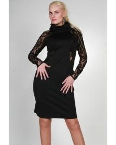 Черное платье Chertina&Durre с воротником хомут