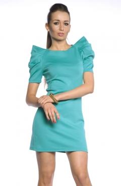 Платье с объемными рукавами | DSP-91-50t