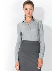 Женская рубашка стального цвета | 4666/4
